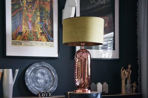 Stilvolle Tischlampe Chloe Lister Brown Famlight E27 60W