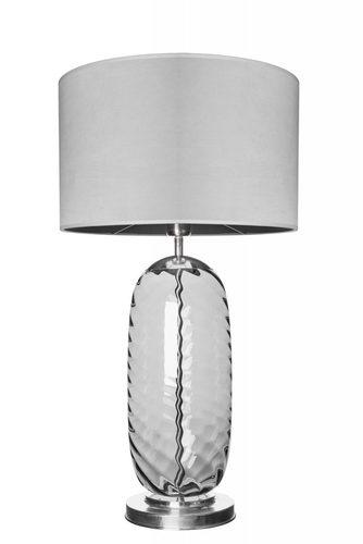 Stilvolle Tischlampe Chloe Lister Grey Famlight grau / Edelstahl E27 60W