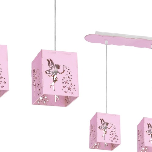 Hängelampe Fairy Pink 3x E27 60 W.