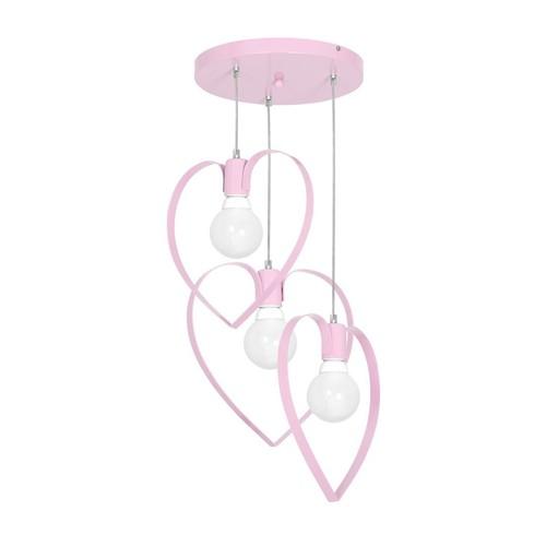 Hängelampe Amore Pink 3x E27