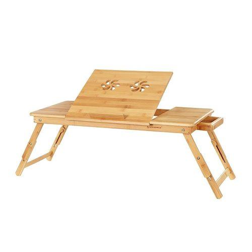 LLD004 Laptop-Tisch aus Bambusbett