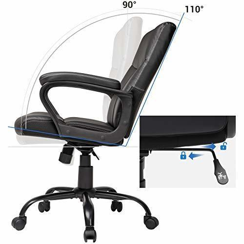 Eleganter schwarzer Bürostuhl OBG39BK Songmics
