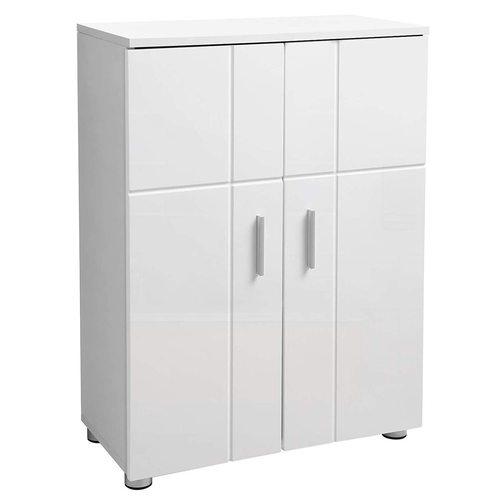 BBK42WT Weißer Badezimmerschrank