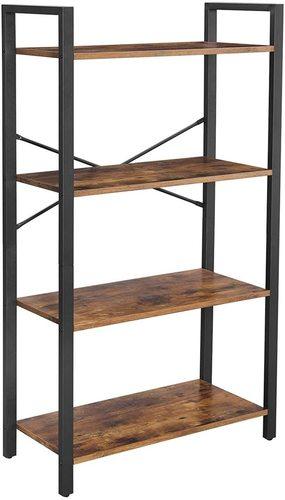 Loft Stil Bücherregal schwarz braun rustikal Alinru LLS60BX VASAGLE