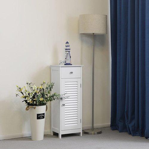 Modischer Rollladenschrank für das Badezimmer BBC43WT Songmics