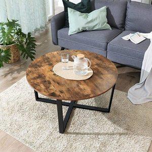 Runder Tisch Kaffee Eiche Rustikal LCT88X small 3