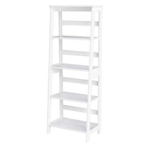 Multifunktionales weißes Bücherregal LLS90WT