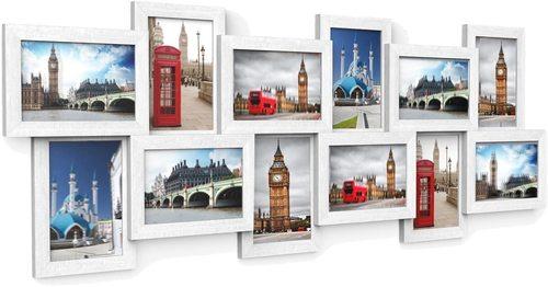 Set mit 12 Fotorahmen Collage RPF22W Songmics