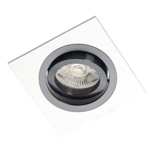 Weißes Quadrat Alcazar mit schwarzem Ring 541.WB