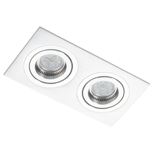 Silber Dual Rechteck Downlight Alcazar 542.SC