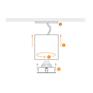 Weiße Cilo Downlight Tube small 4