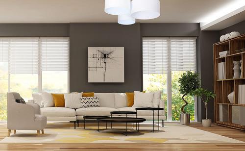 Runde Deckenleuchten - Plafond Elements 60W E27 weiß