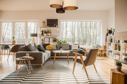 Deckenleuchten für das Wohnzimmer, Deckenelemente 60W E27 beige / creme / braun, gold