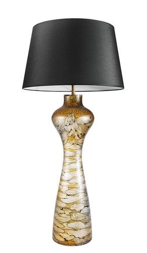 Interessante Tischlampe Havanna L Sahara Famlight E27 60W Graphit / Weiß