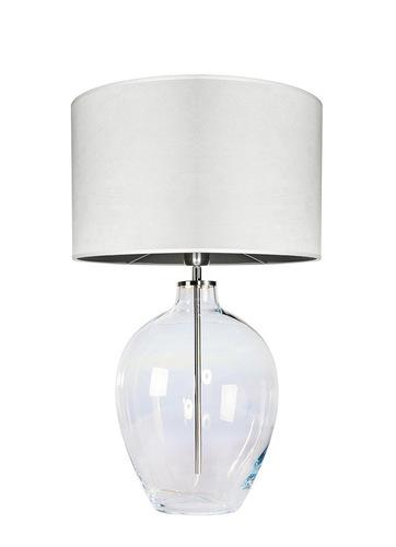 Glastischlampe Luzon Pearl Famlight creme / weiß E27 60W