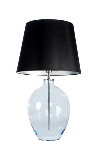 Stehlampe mit Lampenschirm Luzon Pearl Famlight schwarz / silber E27 60W
