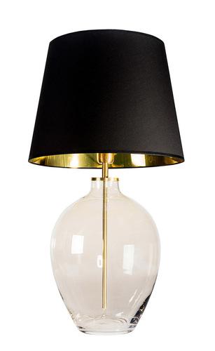 Elegante Tischlampe Luzon Topaz Famlight schwarz / gold E27 60W Messing