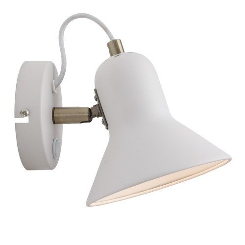 Astama weiße Wandlampe