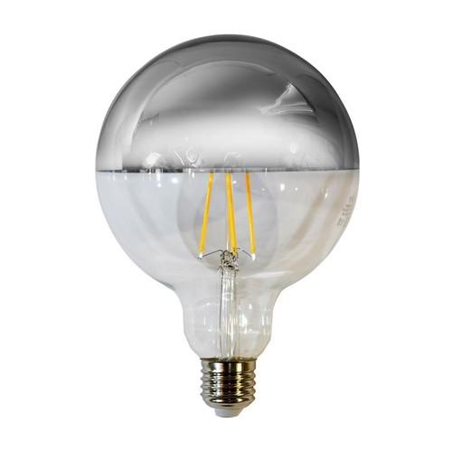 7,5 W LED Glühlampe G125 E27 Silber