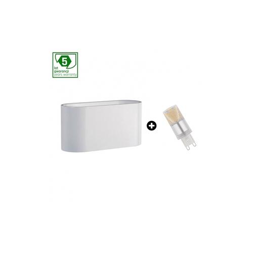 5 Jahre Garantiepaket: Squalla G9 Weiß + Led G9 4w Ww (Slip006009 + Woj + 14433)