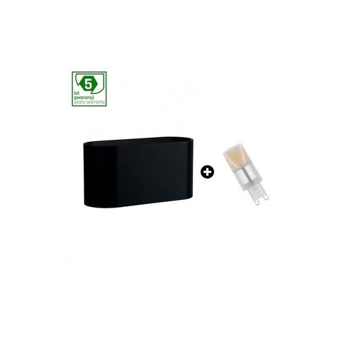 5 Jahre Garantiepaket: Squalla G9 Schwarz + Led G9 4w Cw (Slip006010 + Woj + 14435)