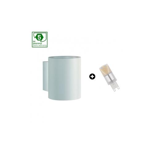 5 Jahre Garantiepaket: Squalla G9 Tuba Weiß + Led G9 4w Nw (Slip006011 + Woj + 14434)