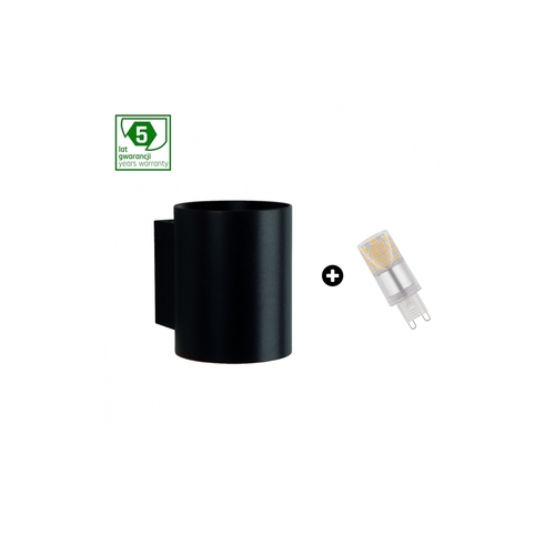 5 Jahre Garantiepaket: Squalla G9 Tuba Schwarz + Led G9 4w Cw (Slip006012 + Woj + 14435)