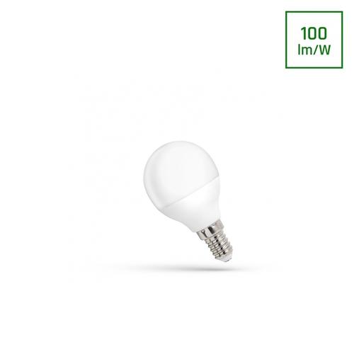 LED-Kugel E-14 230v 1w Cw-Spektrum