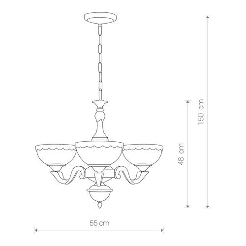 ATTYKA III Leuchte, Überhang