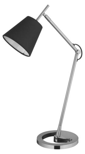 Schreibtischlampe Lily 230V / 25W E14 schwarz / silber
