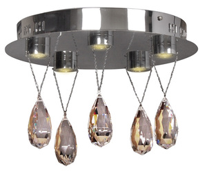 Prisma Deckenleuchte Plafond 5X3W Led Chrome small 0