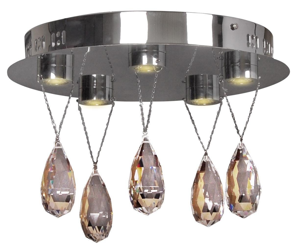 Prisma Deckenleuchte Plafond 5X3W Led Chrome