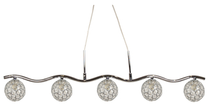Starlet Pendelleuchte 5X40W G9 Chrom / Transparent small 0