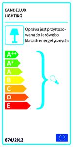 Ansa Lampe Wandleuchte 1X60W E27 Chrom small 1