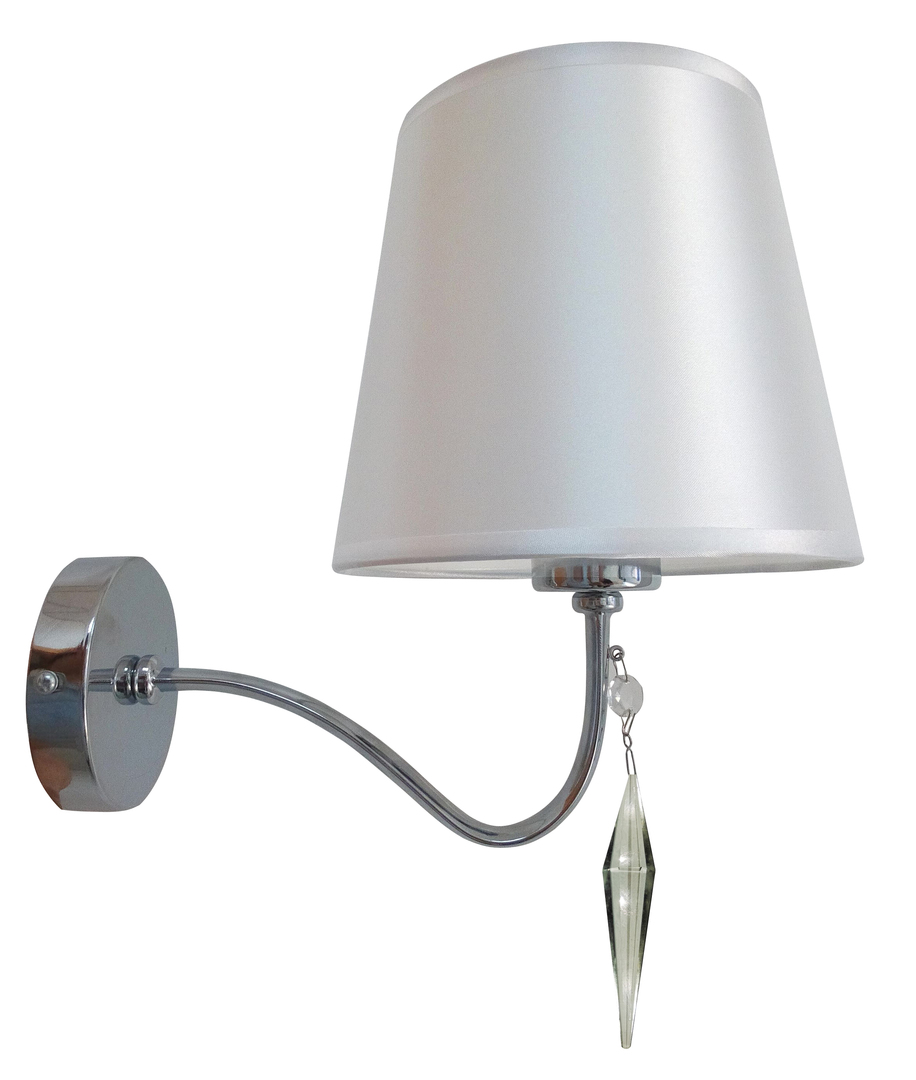 Ansa Lampe Wandleuchte 1X60W E27 Chrom