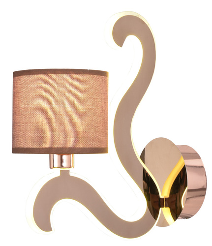 Ambrosia 3 Lampe Wandleuchte 1X40W E14 + 6W LED Kupfer