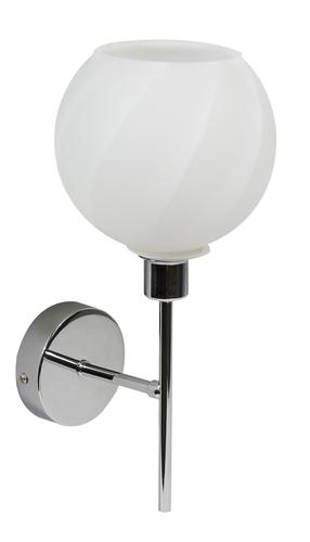 Raul Lampe Wandleuchte 1X40W E14 Chrom, weißer Schirm
