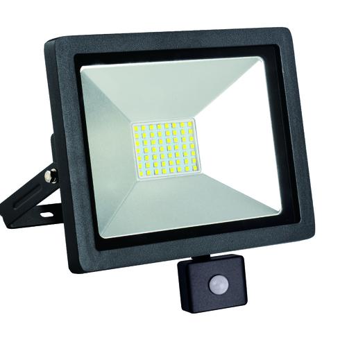 LED Flutlicht schlank mit Bewegungssensor 50W / 230V 6400K PIR