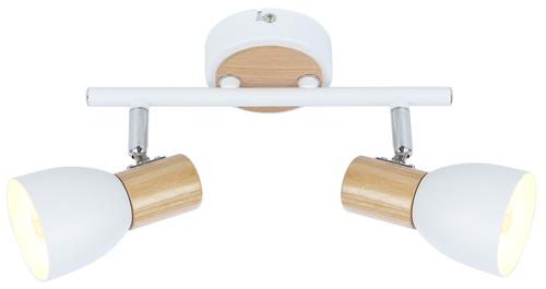 Anabel 2 Deckenleuchtenstreifen 2Xmax25W E14 Weiß + Holz