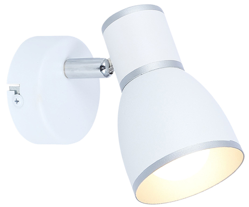 Fido Lampenwand 1X40W E14 Weiß + Chrom