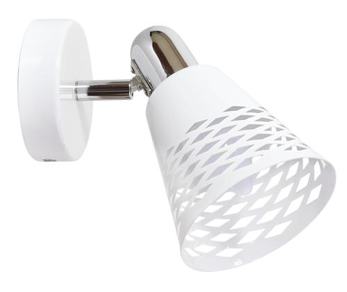 Discovery Lamp Wandleuchte 1X40W E14 Chrom / Weiß