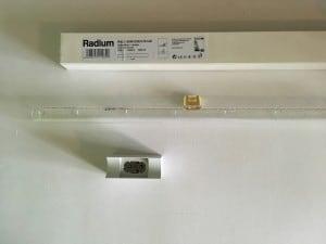 Radium Kristallina RAL 1 60 W 230 V S14D + Osram 670 small 1