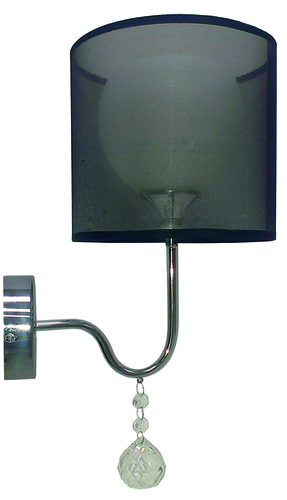 Brava Lampe Wandleuchte D-22 1X60W E27 Schwarz