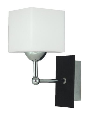 Cubetto Lampe Wandleuchte 1X60 E27 Holz + Chrom