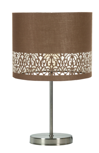 Arabesca Schranklampe 25X25X20 1X60W E27 Braun (Lampenschirm 77-19496, Sockel 87-15849)