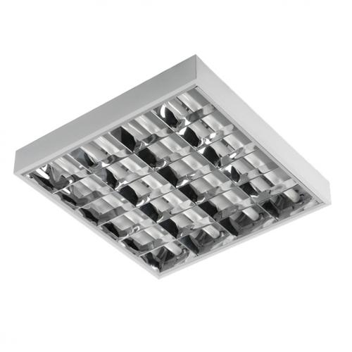 Rasterleuchte für LED 4x18W Leuchtstofflampen Oberfläche