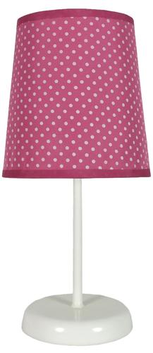 Gala Lampe 1X40W E14 Fuchsia mit Punkten