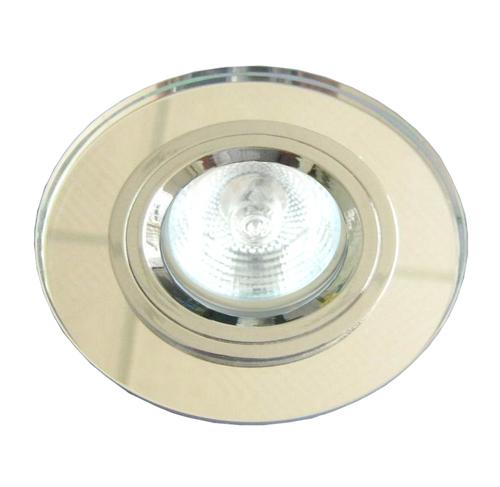 Ss-15 Ch / Wh Mr16 Chrom Ösen Deckenleuchte Feste runde Glas Deckenleuchte Klarglas
