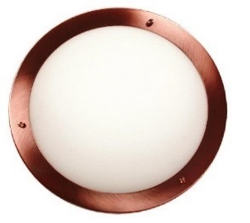 Aquila Lampe Plafon 31 1X60W E27 Kupfer Ip44