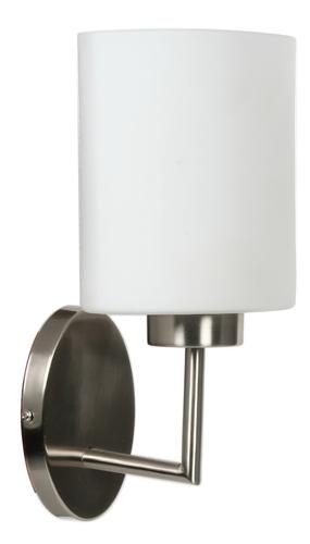 Visola Lampe Wandleuchte 1X60W E27 Nickel Matt
